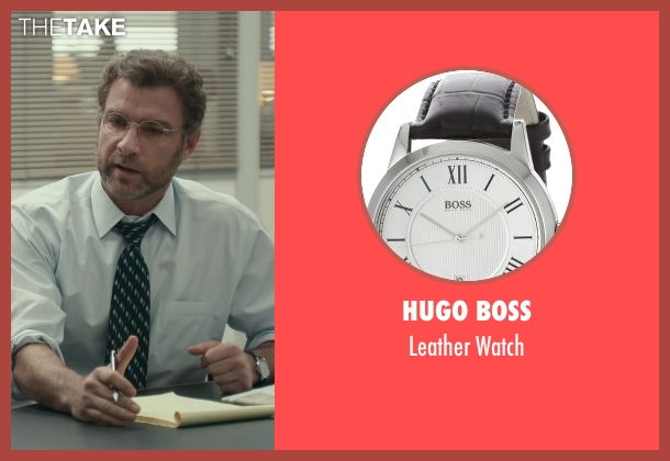 Hugo Boss black watch from Spotlight seen with Liev Schreiber (Marty Baron)