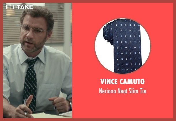 Vince Camuto blue tie from Spotlight seen with Liev Schreiber (Marty Baron)