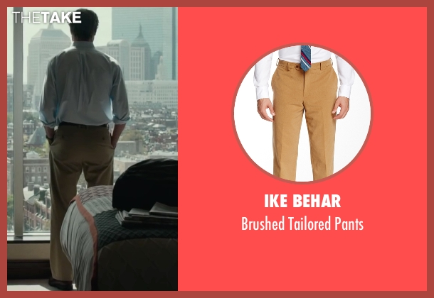 Ike Behar brown pants from Spotlight seen with Liev Schreiber (Marty Baron)