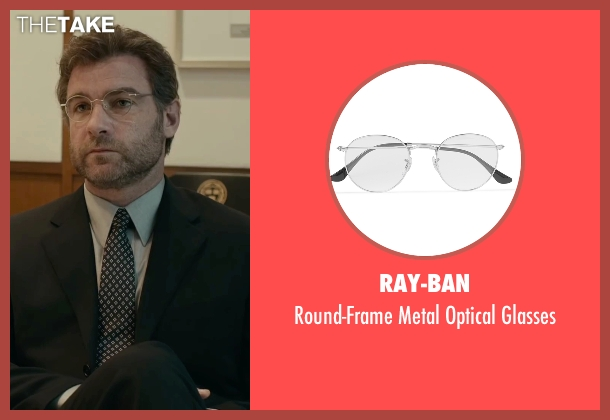 Ray-Ban silver glasses from Spotlight seen with Liev Schreiber (Marty Baron)