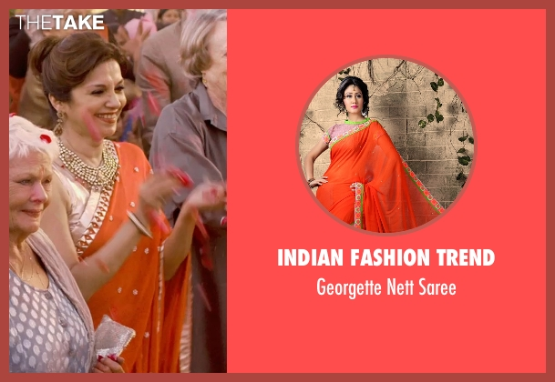 Indian Fashion Trend saree from The Second Best Exotic Marigold Hotel seen with Lillete Dubey (Mrs. Kapoor)