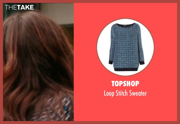 Topshop blue sweater from Love, Rosie seen with Lily Collins (Rosie Dunne)