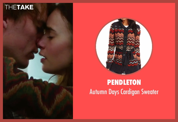 Pendleton brown sweater from Love, Rosie seen with Lily Collins (Rosie Dunne)