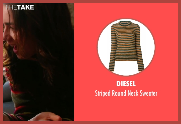 Diesel green sweater from Love, Rosie seen with Lily Collins (Rosie Dunne)