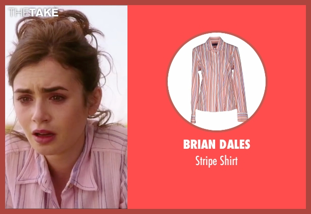 Brian Dales pink shirt from Love, Rosie seen with Lily Collins (Rosie Dunne)
