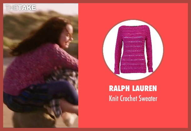 Ralph Lauren pink sweater from Love, Rosie seen with Lily Collins (Rosie Dunne)