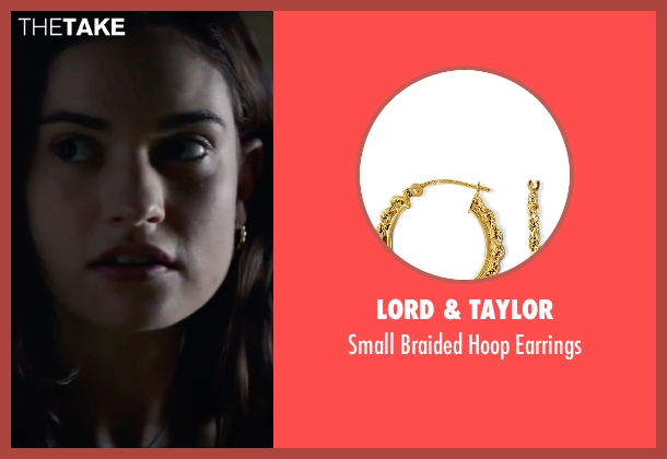 Lord & taylor gold earrings from Burnt seen with Lily James (Sara)