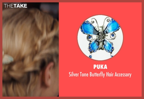Puka blue accessory from Cinderella seen with Lily James (Cinderella)