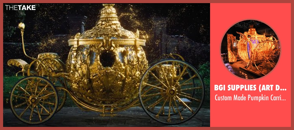 Bgi Supplies (Art Department) carriage from Cinderella seen with Lily James (Cinderella)