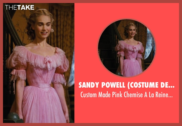 Sandy Powell (Costume Designer) dress from Cinderella seen with Lily James (Cinderella)