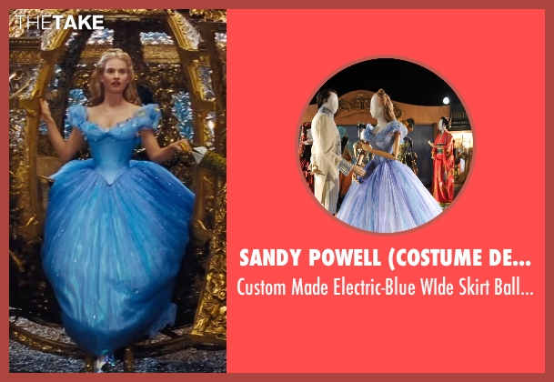 Sandy Powell (Costume Designer) gown from Cinderella seen with Lily James (Cinderella)