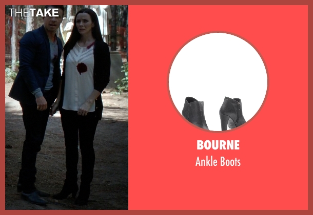 Bourne black boots from The Vampire Diaries seen with Lily Salvatore (Annie Wersching)