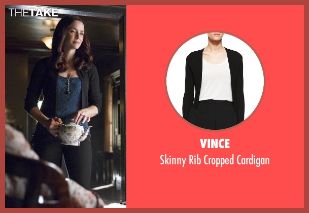 Vince black cardigan from The Vampire Diaries seen with Lily Salvatore (Annie Wersching)