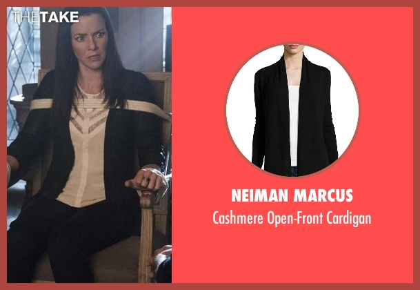 Neiman Marcus black cardigan from The Vampire Diaries seen with Lily Salvatore (Annie Wersching)