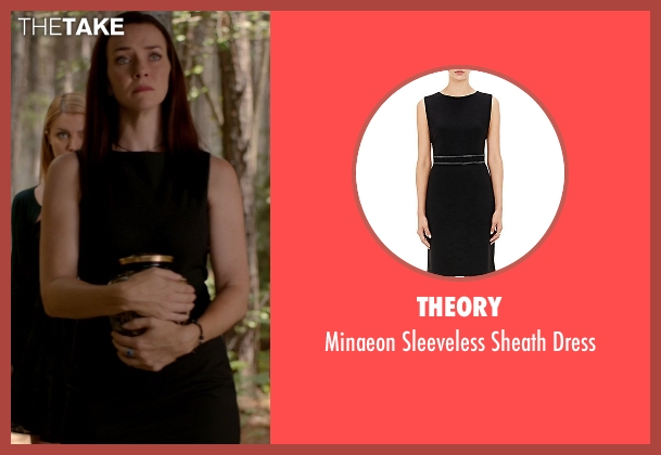 Theory black dress from The Vampire Diaries seen with Lily Salvatore (Annie Wersching)
