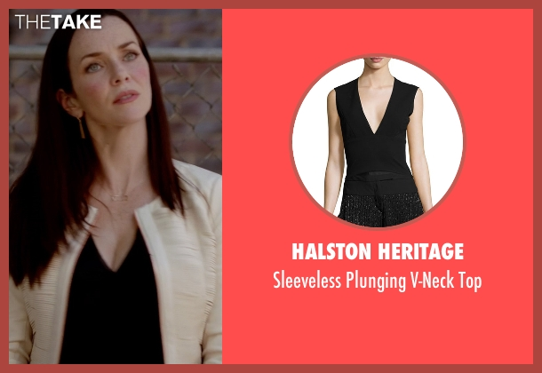 Halston Heritage black top from The Vampire Diaries seen with Lily Salvatore (Annie Wersching)