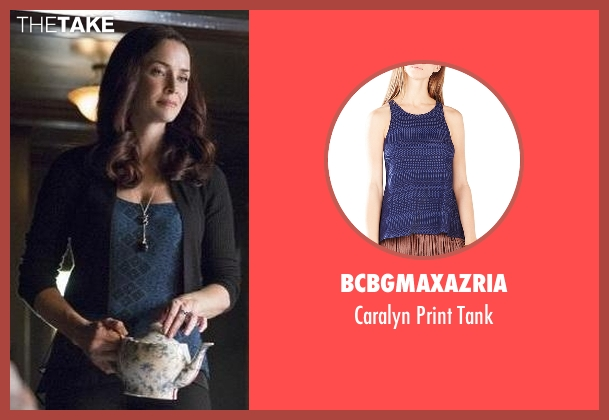 BCBGmaxazria blue tank from The Vampire Diaries seen with Lily Salvatore (Annie Wersching)