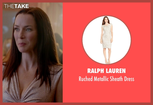 Ralph Lauren gold dress from The Vampire Diaries seen with Lily Salvatore (Annie Wersching)