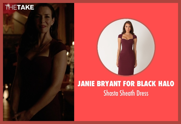 Janie Bryant for Black Halo red dress from The Vampire Diaries seen with Lily Salvatore (Annie Wersching)