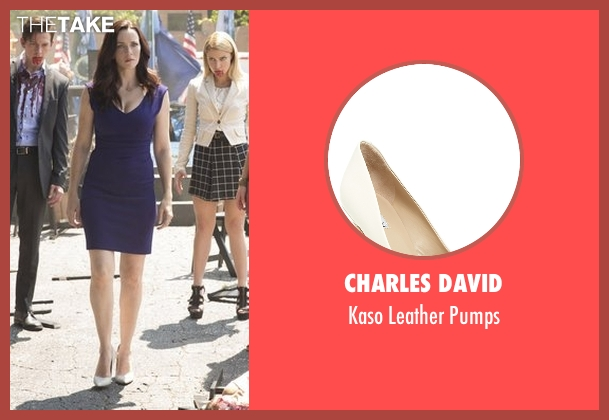 Charles David white pumps from The Vampire Diaries seen with Lily Salvatore (Annie Wersching)