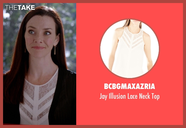 BCBGMAXAZRIA white top from The Vampire Diaries seen with Lily Salvatore (Annie Wersching)