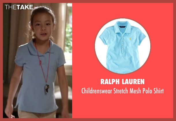 Ralph Lauren blue shirt from Modern Family seen with Lily Tucker-Pritchett (Aubrey Anderson-Emmons)
