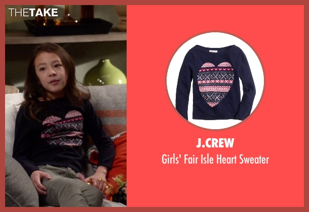J.Crew blue sweater from Modern Family seen with Lily Tucker-Pritchett (Aubrey Anderson-Emmons)