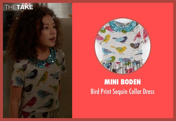 Mini Boden gray dress from Modern Family seen with Lily Tucker-Pritchett (Aubrey Anderson-Emmons)