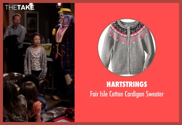 Hartstrings  gray sweater from Modern Family seen with Lily Tucker-Pritchett (Aubrey Anderson-Emmons)