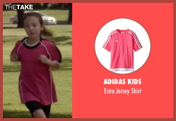 Adidas Kids pink shirt from Modern Family seen with Lily Tucker-Pritchett (Aubrey Anderson-Emmons)