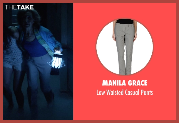 Manila Grace gray pants from Insidious: Chapter 3 seen with Lin Shaye (Elise Rainier)