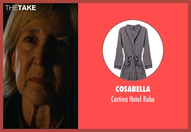 Cosabella gray robe from Insidious: Chapter 3 seen with Lin Shaye (Elise Rainier)