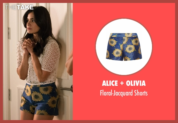 Alice + Olivia blue shorts from Jane the Virgin seen with Lina (Diane Guerrero)