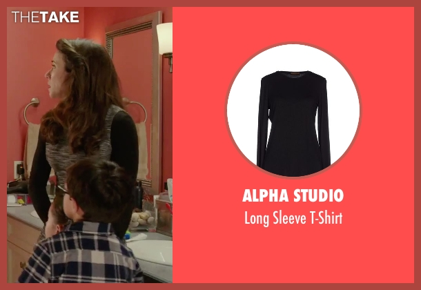 Alpha Studio black t-shirt from Daddy's Home seen with Linda Cardellini (Unknown Character)