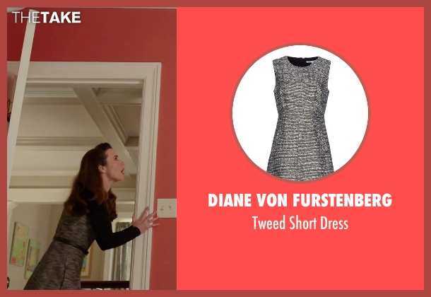 Diane Von Furstenberg gray dress from Daddy's Home seen with Linda Cardellini (Unknown Character)