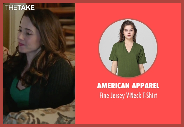 American Apparel green t-shirt from Daddy's Home seen with Linda Cardellini (Unknown Character)