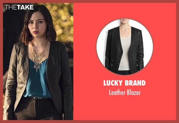 Lucky Brand black blazer from The Flash seen with Linda Park (Malese Jow)