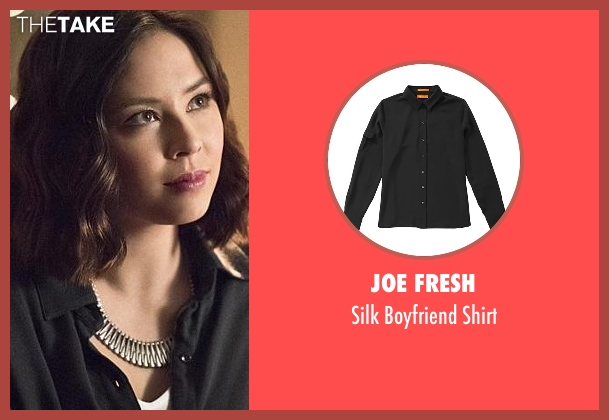 Joe Fresh black shirt from The Flash seen with Linda Park (Malese Jow)