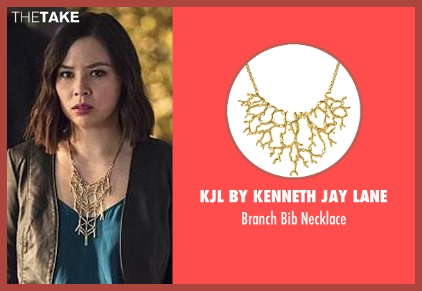 KJL By Kenneth Jay Lane gold necklace from The Flash seen with Linda Park (Malese Jow)