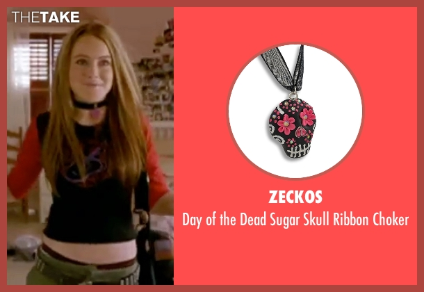 Zeckos black choker from Freaky Friday seen with Lindsay Lohan (Anna Coleman)