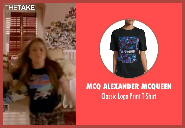 McQ Alexander McQueen black t-shirt from Freaky Friday seen with Lindsay Lohan (Anna Coleman)