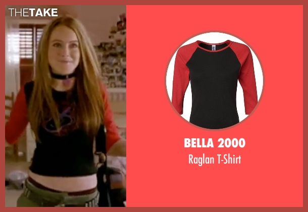 Bella 2000 black t-shirt from Freaky Friday seen with Lindsay Lohan (Anna Coleman)