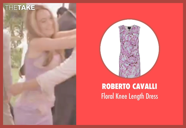 Roberto Cavalli purple dress from Freaky Friday seen with Lindsay Lohan (Anna Coleman)