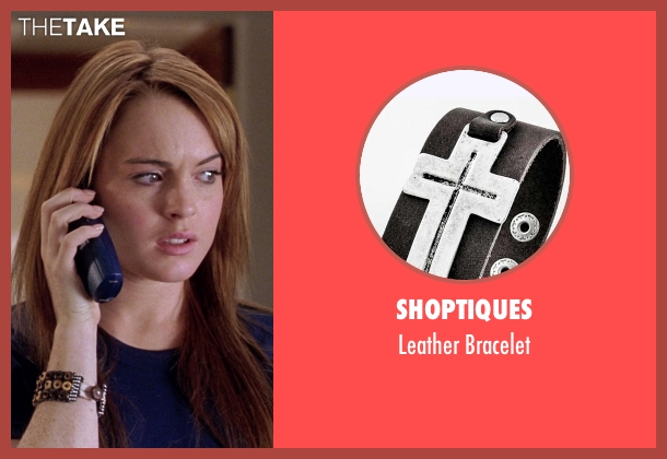 Shoptiques black bracelet from Mean Girls seen with Lindsay Lohan (Cady Heron)