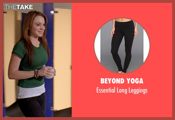 Beyond Yoga black leggings from Mean Girls seen with Lindsay Lohan (Cady Heron)