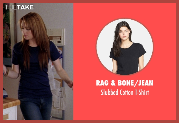 Rag & Bone/Jean black t-shirt from Mean Girls seen with Lindsay Lohan (Cady Heron)