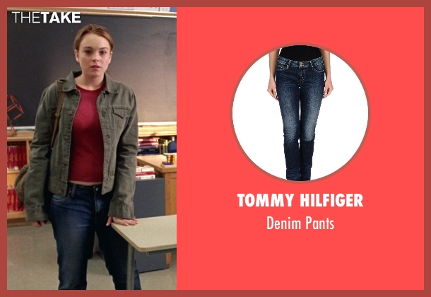 Tommy Hilfiger blue pants from Mean Girls seen with Lindsay Lohan (Cady Heron)