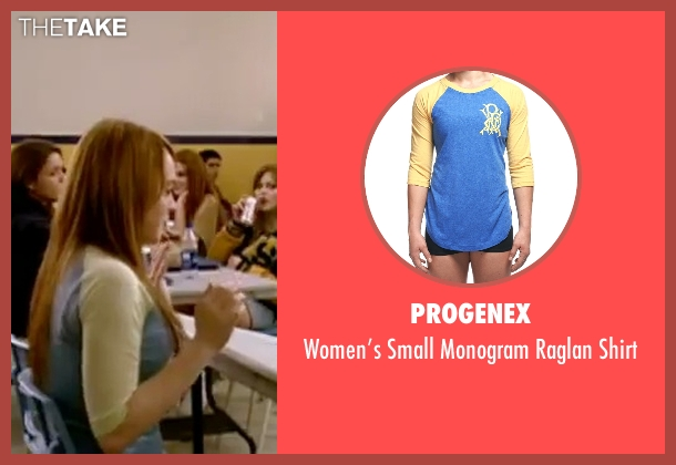 Progenex blue shirt from Mean Girls seen with Lindsay Lohan (Cady Heron)