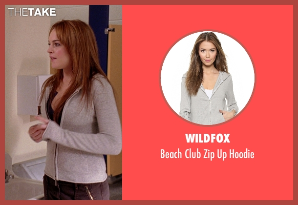 Wildfox gray hoodie from Mean Girls seen with Lindsay Lohan (Cady Heron)