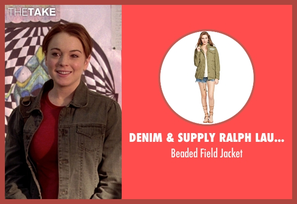 Denim & Supply Ralph Lauren green jacket from Mean Girls seen with Lindsay Lohan (Cady Heron)